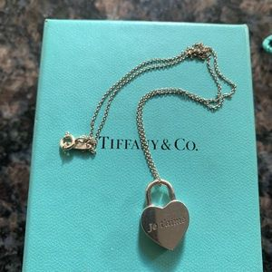 Tiffany Heart Lock Charm Pendant